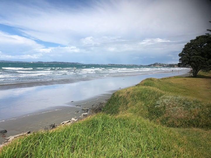 Orewa with private access to the beach