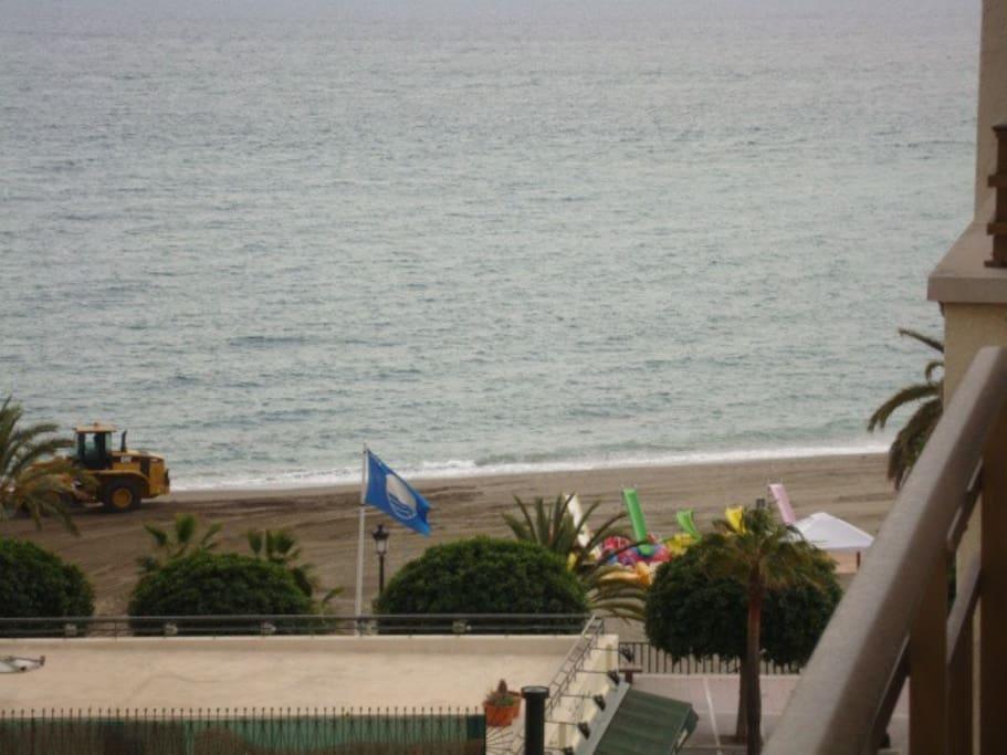 Vista del Mar desde balcon y desde dormitorio