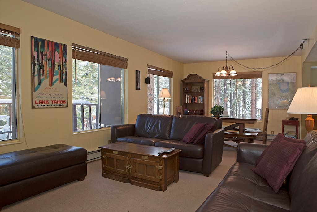 Spacious living area with open floor plan