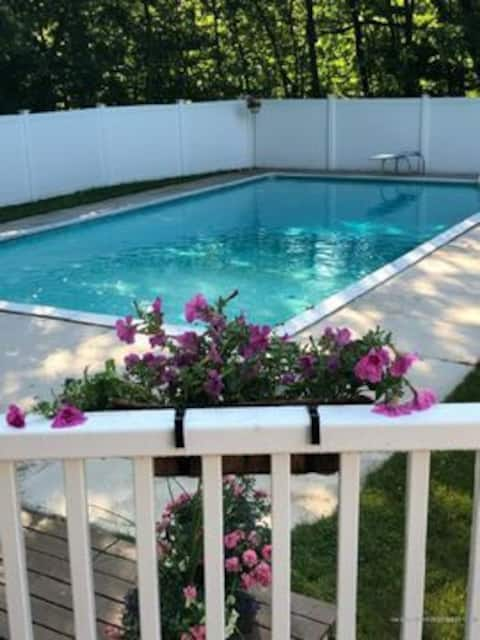 Private Maine Escape with large in-ground pool!