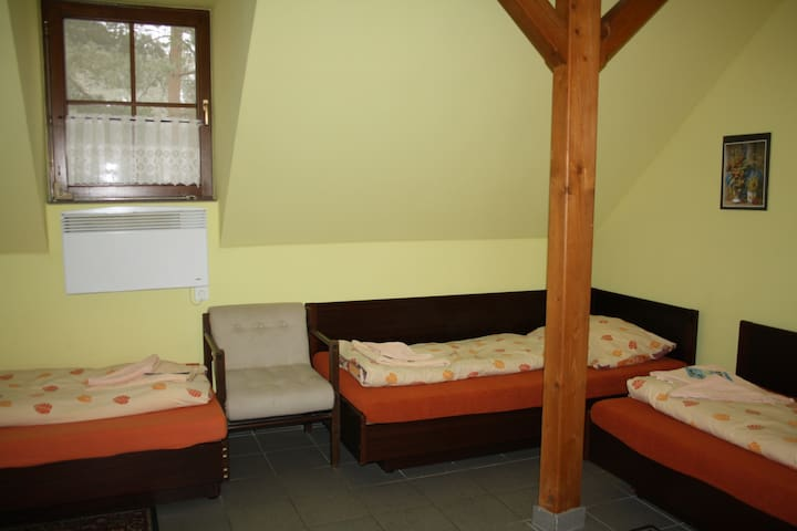 Cozy quadruple room