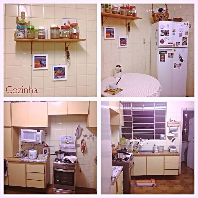 Cozinha ampla e arejada, totalmente equipada com eletrodomésticos e todos os utensílios que vc possa precisar!