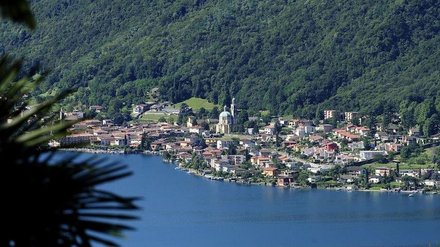 Lake view apartment on Lake Lugano - Riva San Vitale - Apartemen