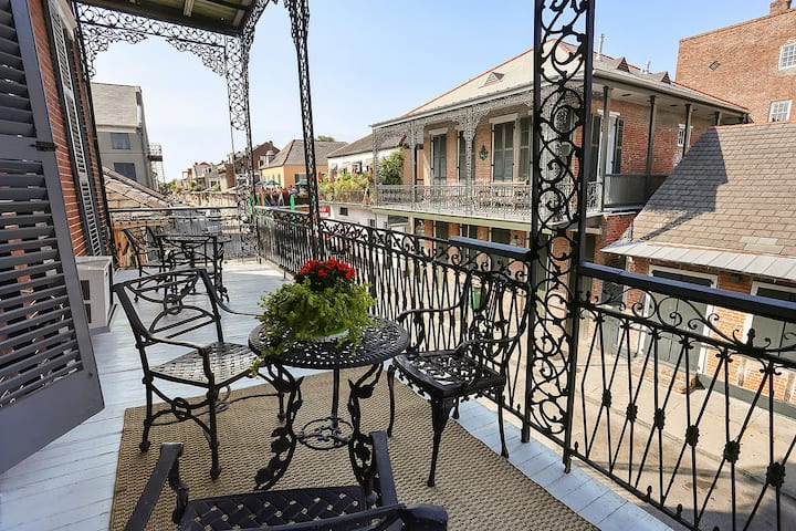 French Lux Balcony overlooking Bourbon #3
