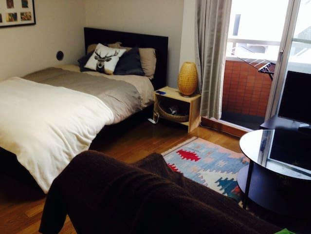 lovely apartment. quiet but very convienient+WiFi - Meguro-ku - Lakás