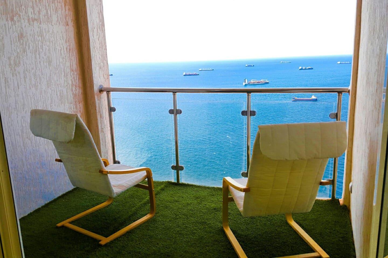 Terrasse Une avec une Vue directe sur la Bais d'Oran