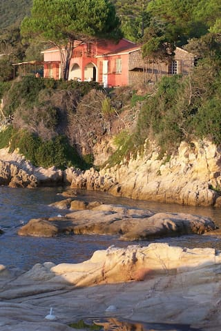 Eagle's nest on the sea for romantic couple