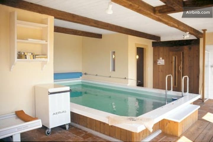 pool, sauna, whirlpool, steam bath - Humptrup - House