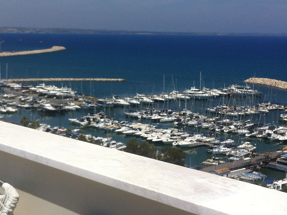 Marina view from terrace on 12th floor