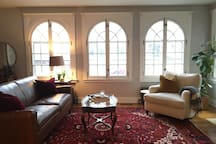 Main room with beautiful windows!