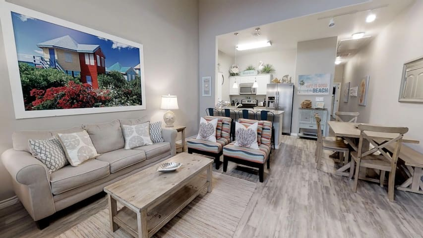 Coastal Comfort! 2BR/2Bath Walking Distance to Beach and Packery Channel