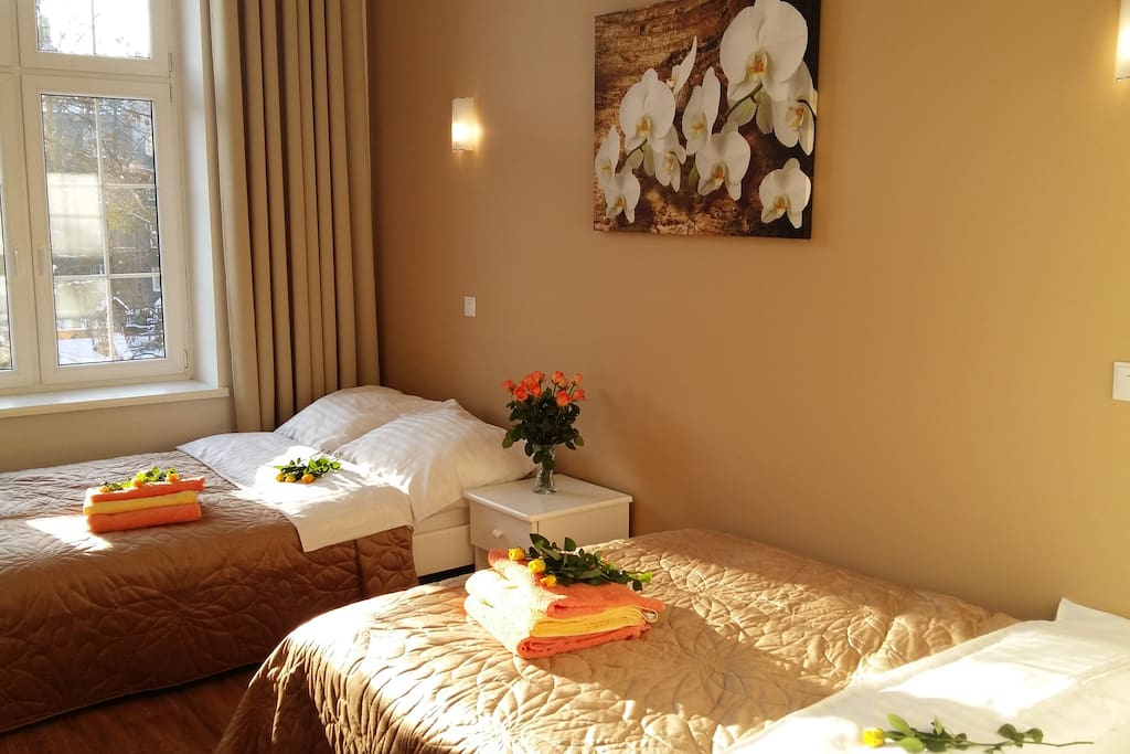 Bedroom is placed from the yard side that alows you to enjoy your long and comfortable sleep.