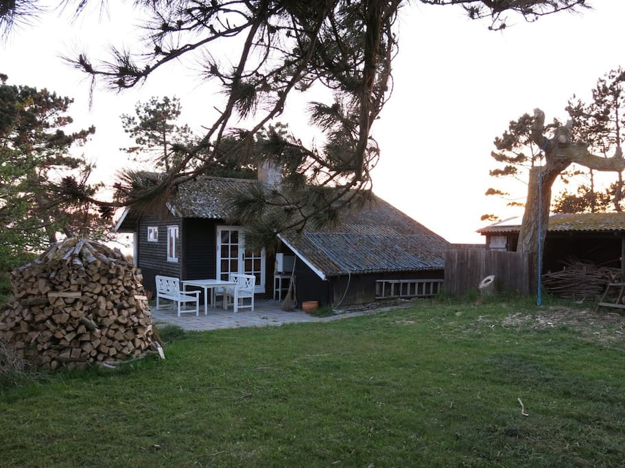 master cottage in sunset