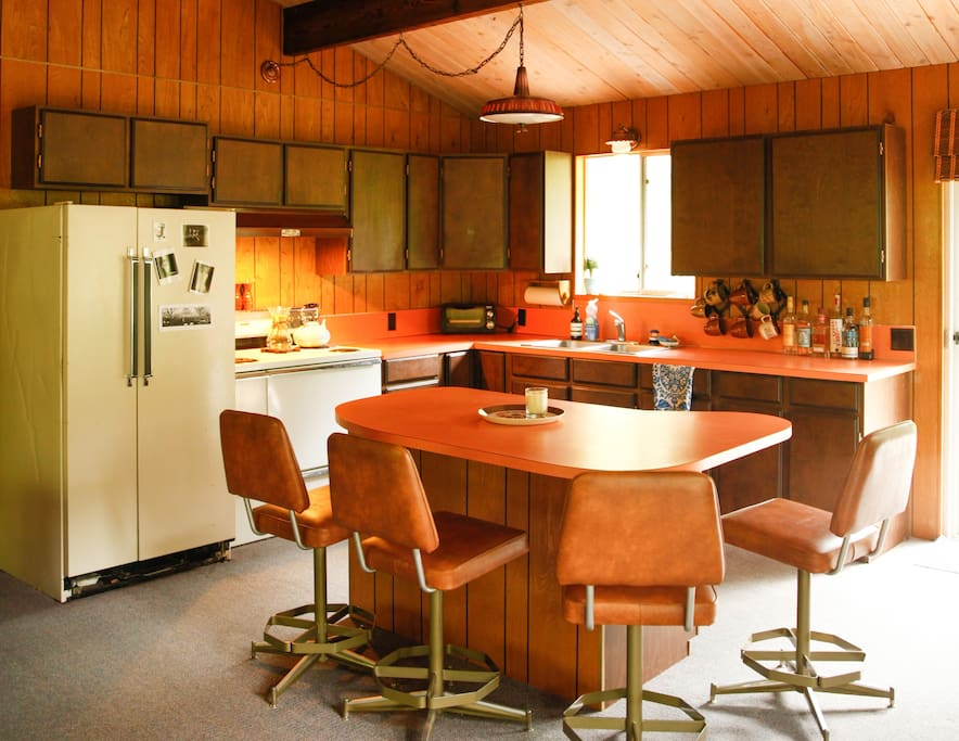 Original Kitchen with all you need to cook/BBQ/bake for and serve groups of 10+.
