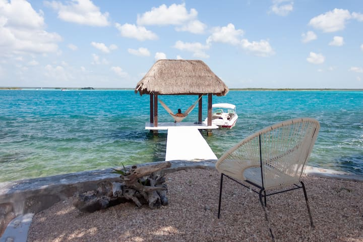 YOUR FABULOUS LAKEFRONT HOUSE IN BACALAR!