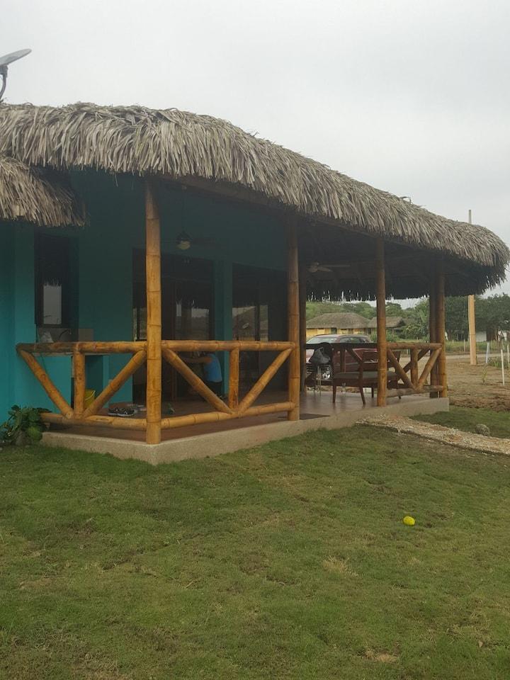 Ecuadorean countryside and pacific ocean beach.