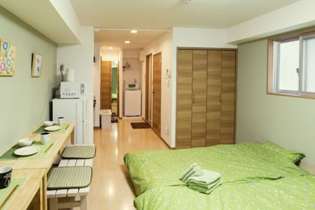 Near Shinjuku/2 mins from Okubo station/Free WiFi - Shinjuku-ku - Daire