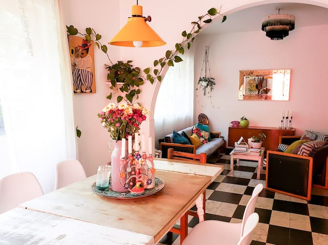 Bohemian Coyoacán, cozy room