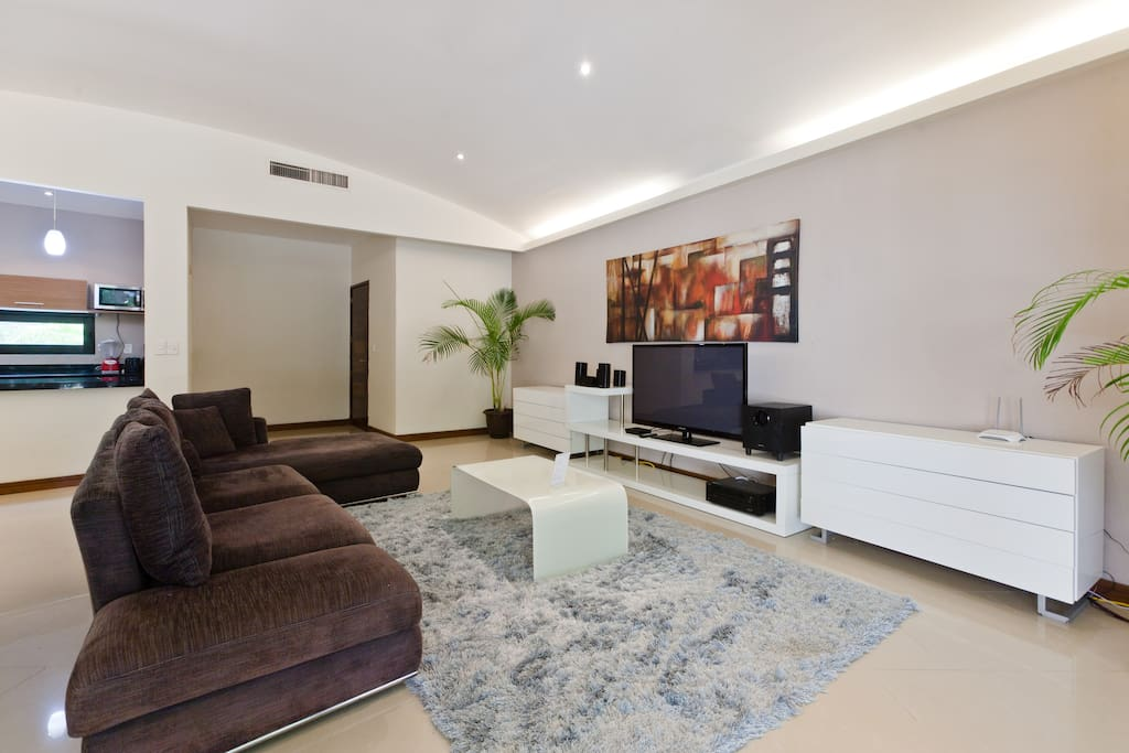 living room  wit smart Tv and internet