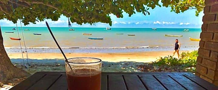 Cumuruxatiba right at the beach. *PARADISIAC VIEW*