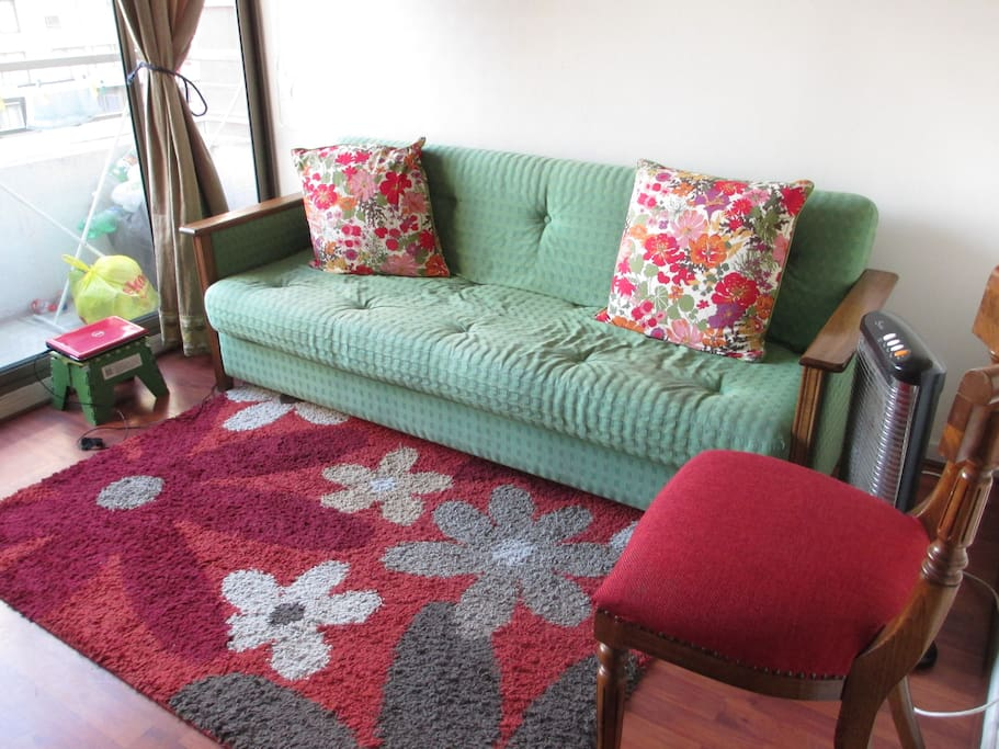 I've changed the color in the sofa is now red!