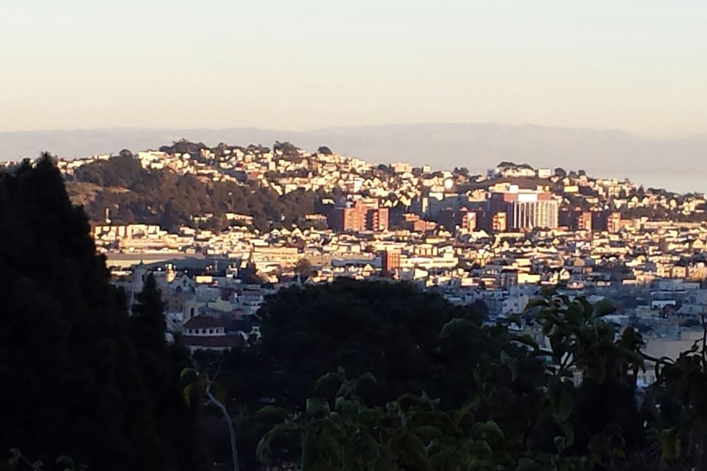 View over Mission and SF Bay