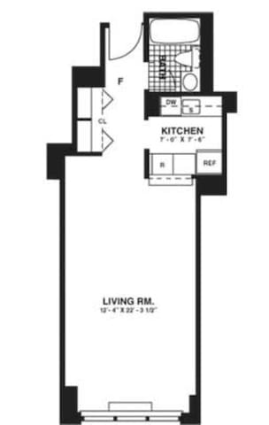 Studio in Upper East Side High Rise - Нью-Йорк - Квартира