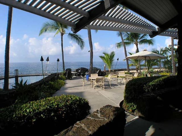 Oceanfront saltwater pool in tropical Kona, Hawaii - Kailua-Kona - Apartment