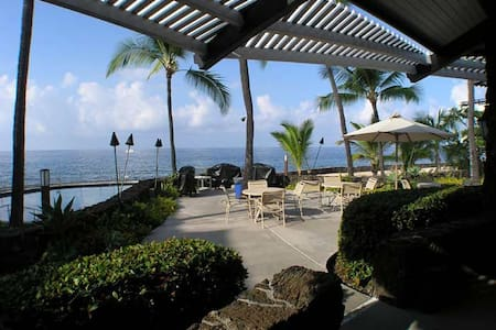 Oceanfront saltwater pool in tropical Kona, Hawaii - Kailua-Kona