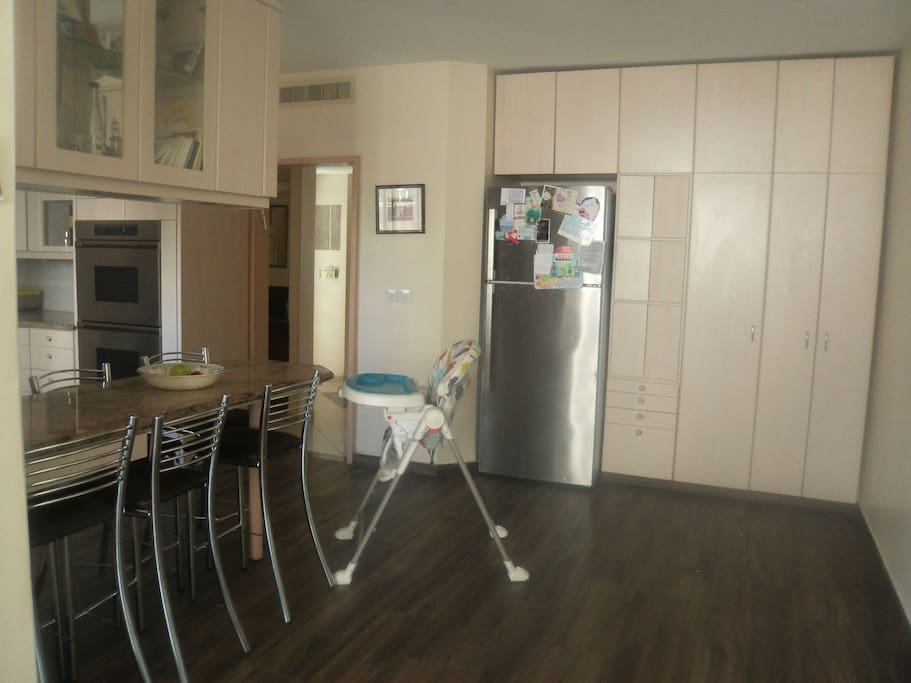 Breakfast bar in Kitchen and high-chair