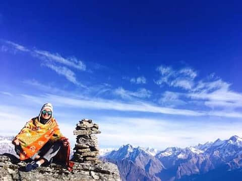 Experience Om in Midst of Glaciers at Munsyari.