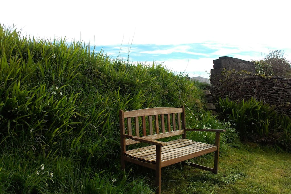 Somewhere to relax at the back of the garden