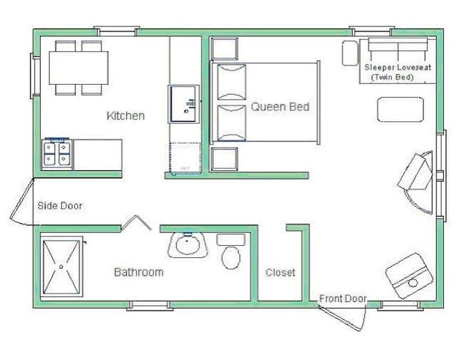 Floorplan of cabin