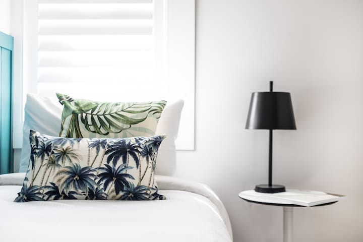 A Hampton's style feel in your home away from home.