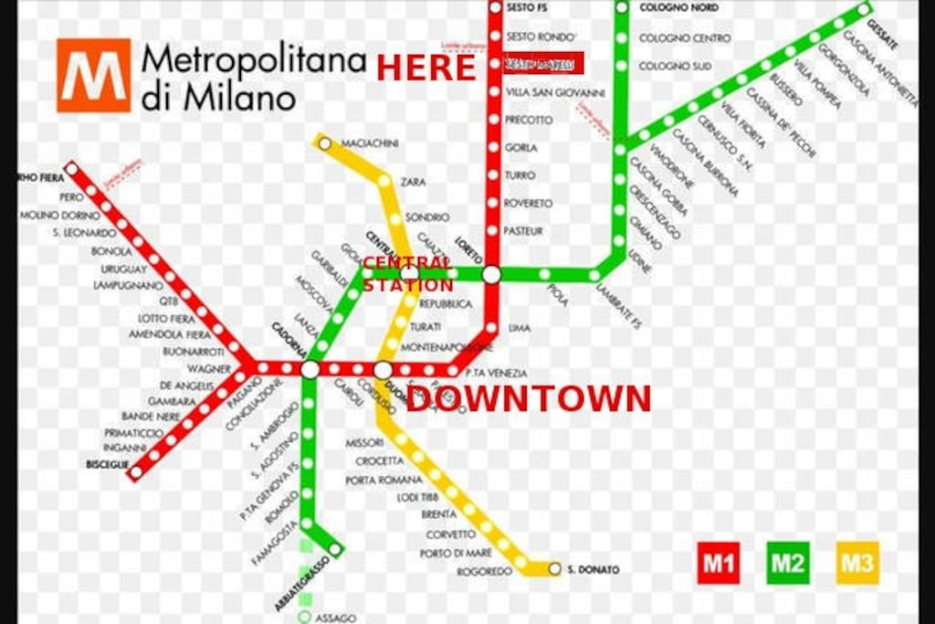 Metro map - you are here