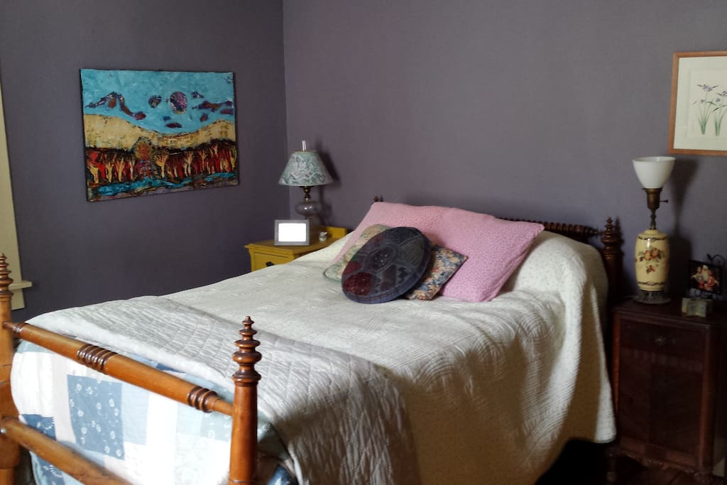 private guest room with double bed