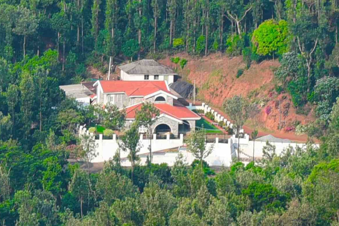 Aerial view of the home stay.