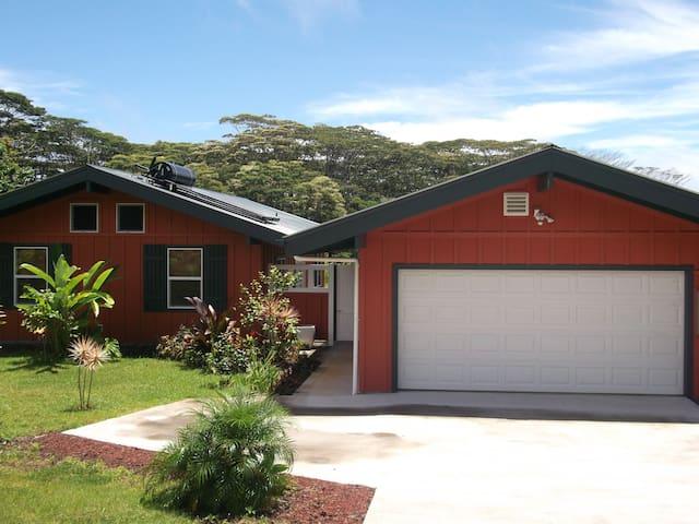 Hawaiian Retreat-Near Lava viewing!