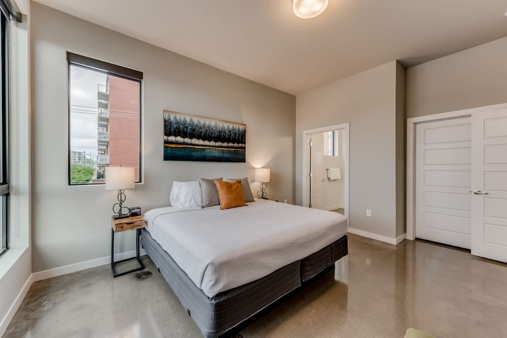 Bedroom at The James by Stay Alfred