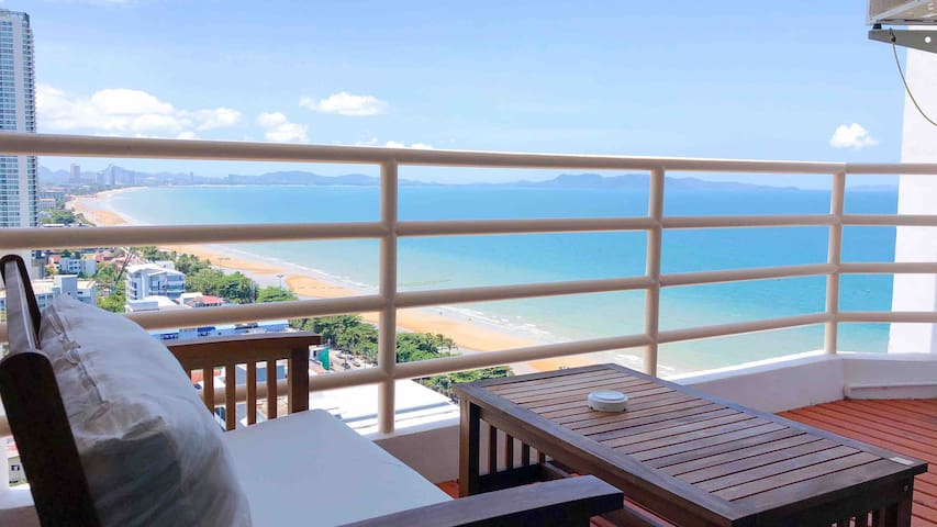 ✿Jomtien Beach•ViewTalay8•24hCheck-in•4P 997