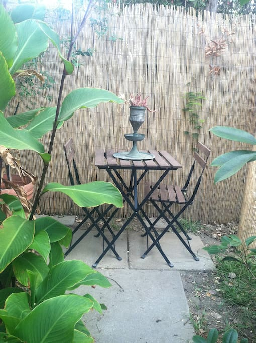 Private Outdoor Bistro Set