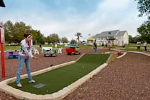 Our own candy-themed mini golf course!