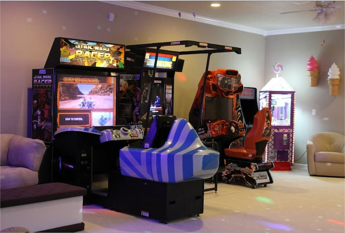 One of two video game arcades...