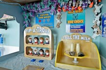 Play actual carnival games in a real carnival booth!