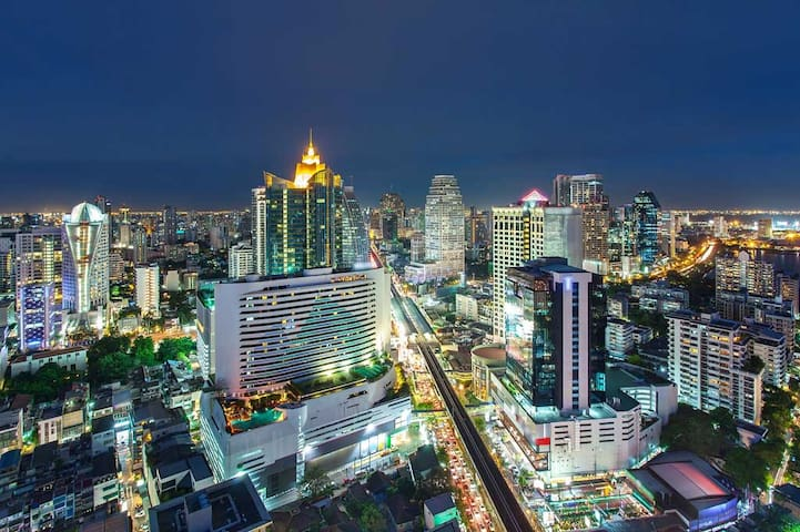 VERY CENTRAL ☆ Big room ☆ Best view ☆ Thai deco - NANA - อพาร์ทเมนท์