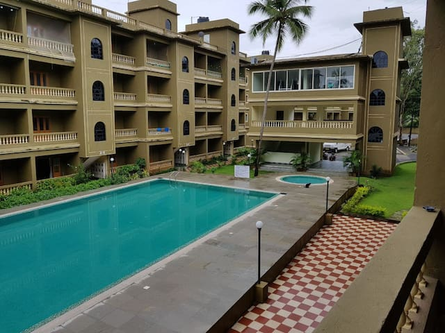 Swim n Stay in 1bhk North Goa for 4guests