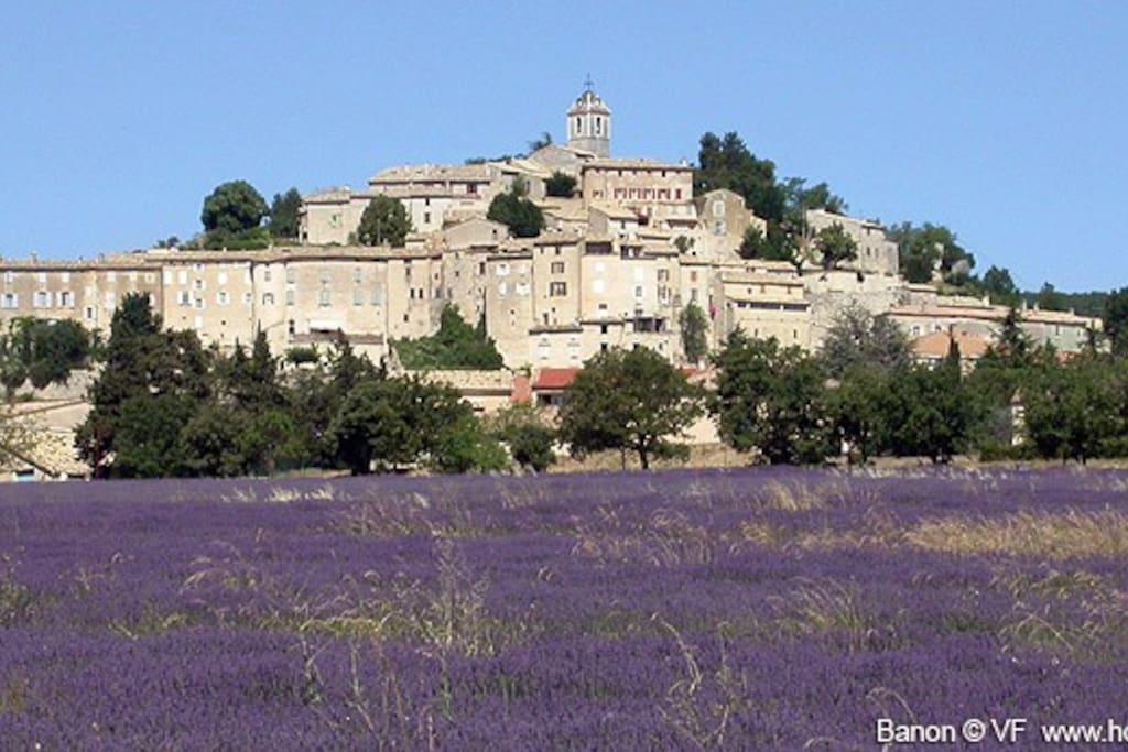 Le village est à égal distance d Apt, de Forcalquier ou de Manosque. Connu pour ses fromages, sa librairie.