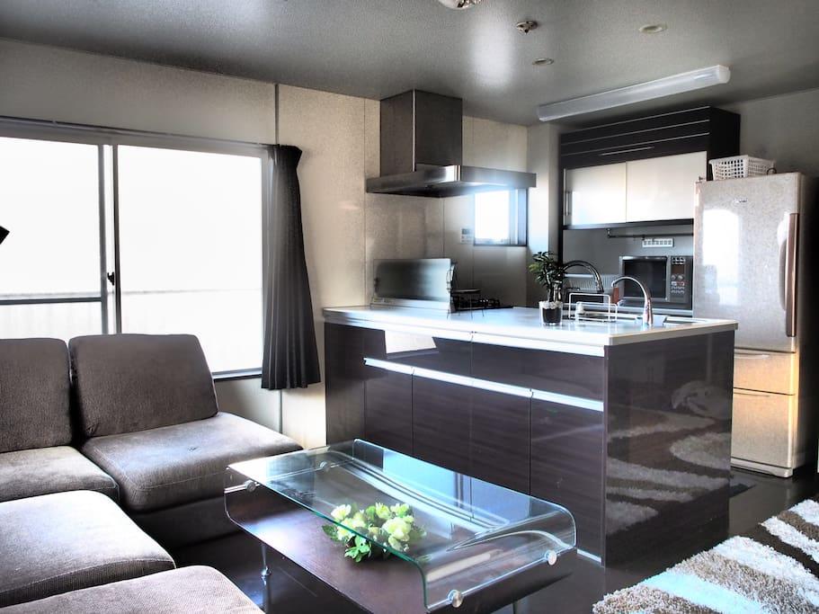 living&kitchen