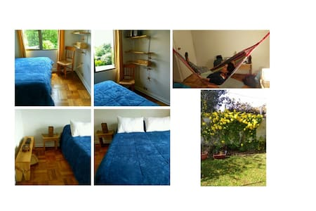 Double room and bed, house, huge garden, PUC (2b)