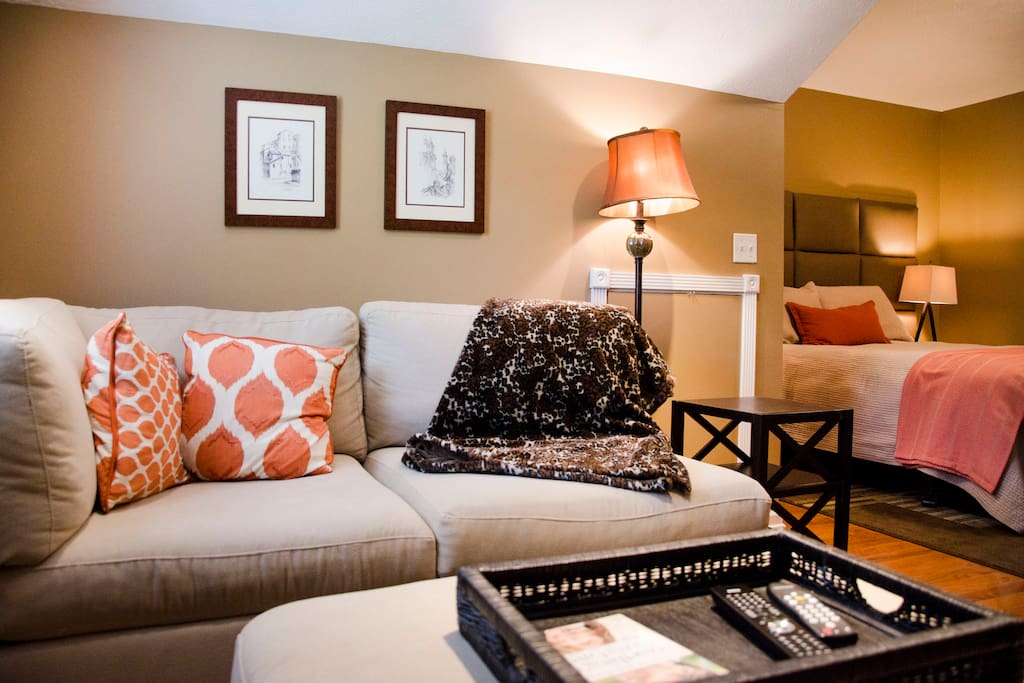 Alcove Suite-Space to unwind and put up your feet.